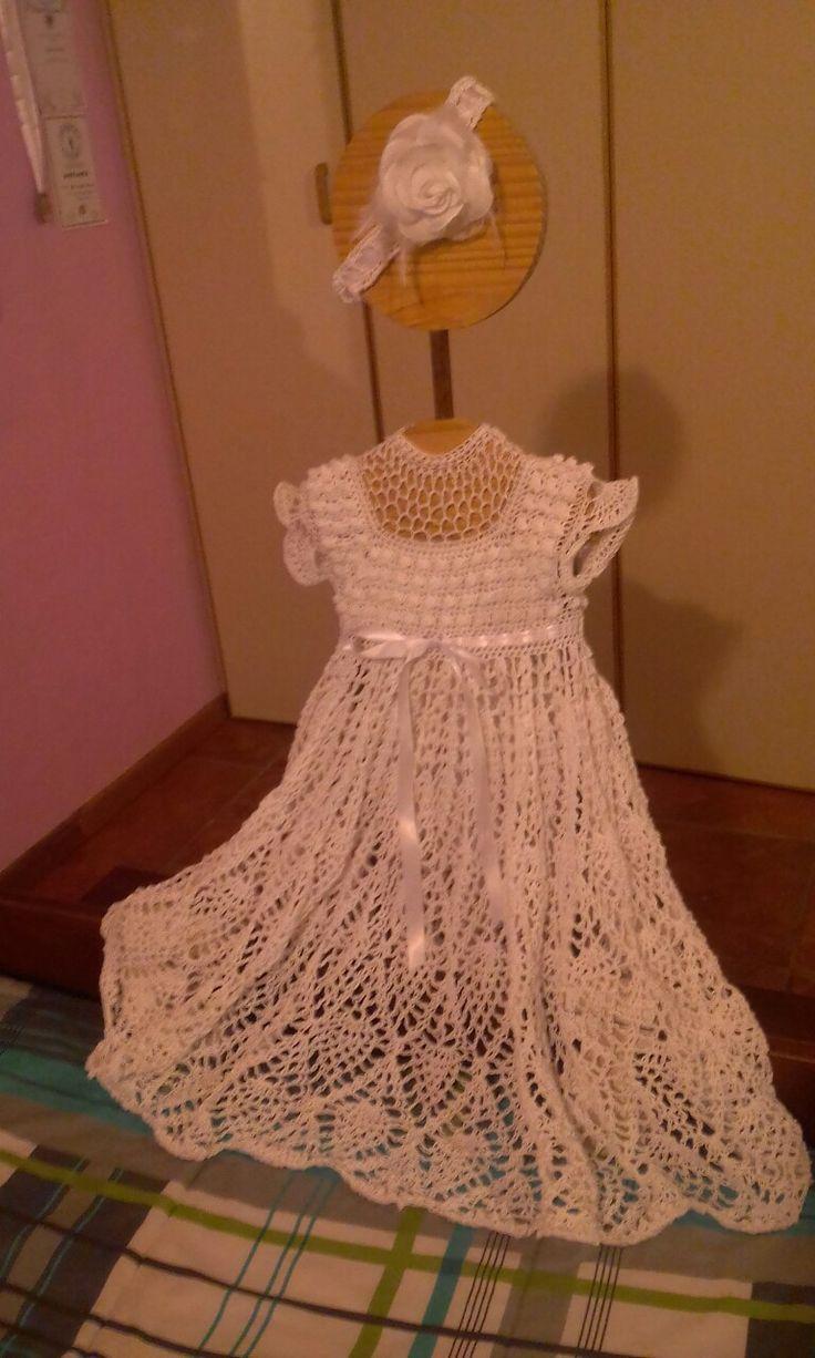 Crochet christning dress