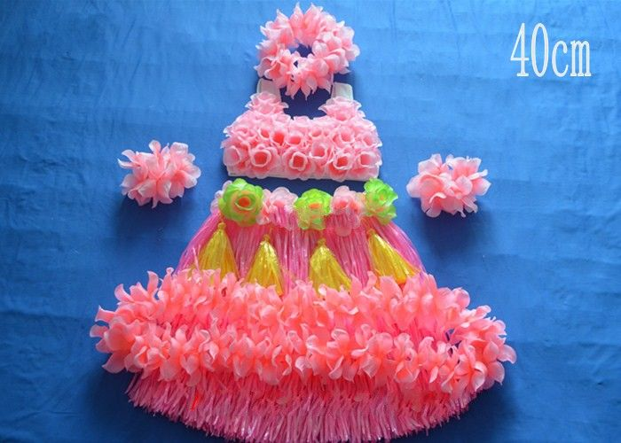 2016 Hawaiian grass skirt suit value 40 cm with thick grass skirt corset loops a rival head neck set of 6 pieces of performance