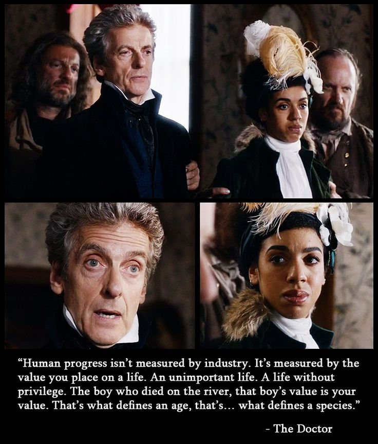 Yet another beautiful speech made on Doctor Who from the latest episode - Thin Ice
