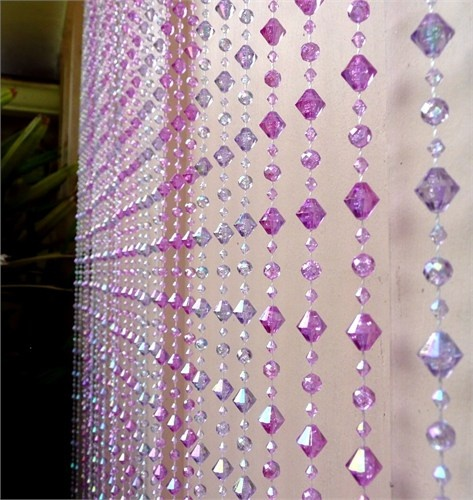 59 best images about windows decor on pinterest bead - Purple beaded door curtains ...
