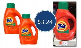 Tide Laundry Detergent, Only $3.24 at Walmart!