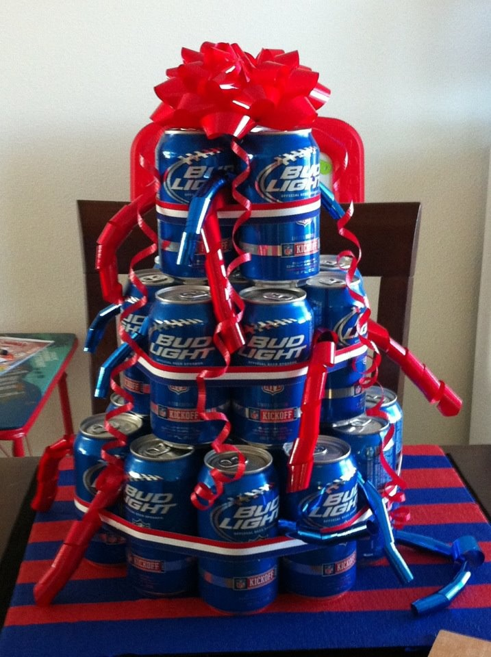 Homecoming present to my husband....beer cake! :)
