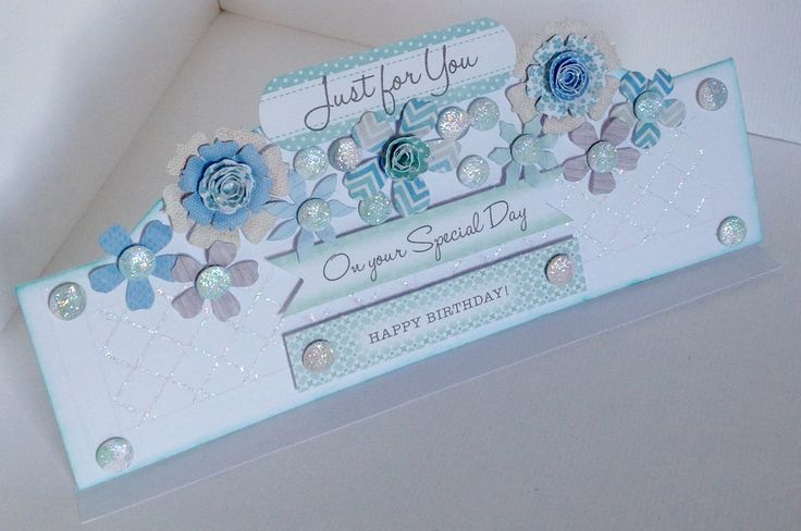 Stunning window box card created by Julie Hickey using the Serenity collection.