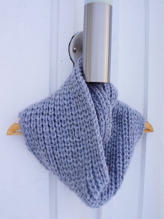 Chunky Knit Circle Scarf / Hand Knitted Chunky by PocoLocoKnitting