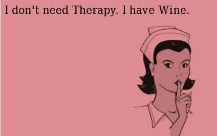 Wine is the solution to all lifes problems
