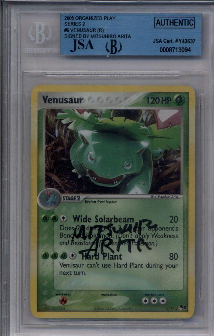 #pokemon Venusaur #6/17 Pokemon Rare Holo Foil BGS JSA BAS PSA Autograph Mitsuhiro Arita please retweet