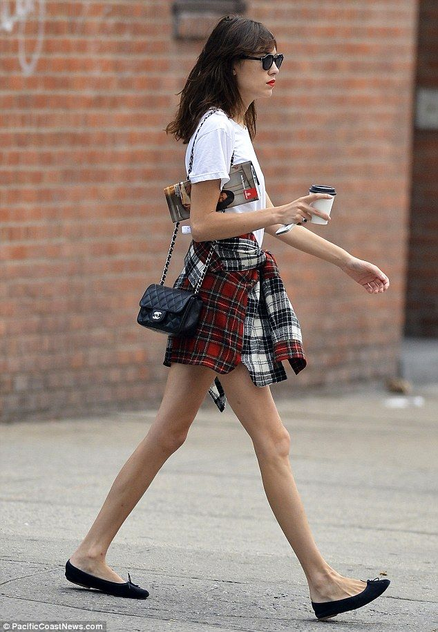 Alexa Chung looks effortlessly cool as she steps out for coffee in New York City on Tuesday