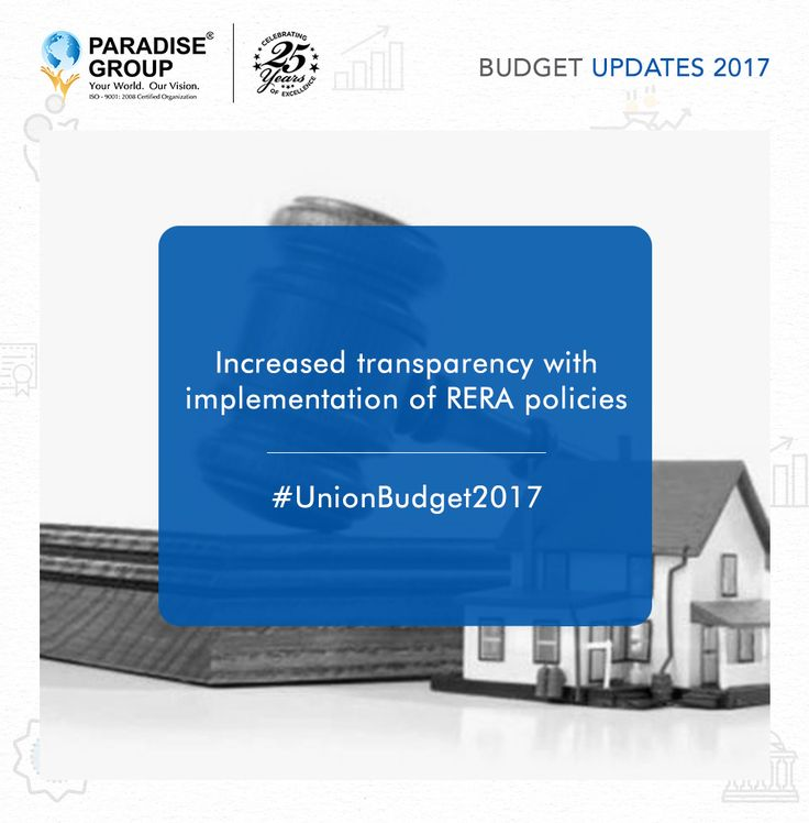 Here are some glimpse and highlights of the Union Budget 2017 and its positive impact on Real Estate.   #budget #2017budget #2017unionbudget #peoplesbudget #indianbudget #positivebudget #realestatebudget #housingbudget #paradisegroup #paradise #navimumbai #realestate #construction #saiworld