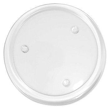 Assiette en verre, transparent, pour bougies, bougies chauffe-plat, etc., Ø : 18,5 cm.