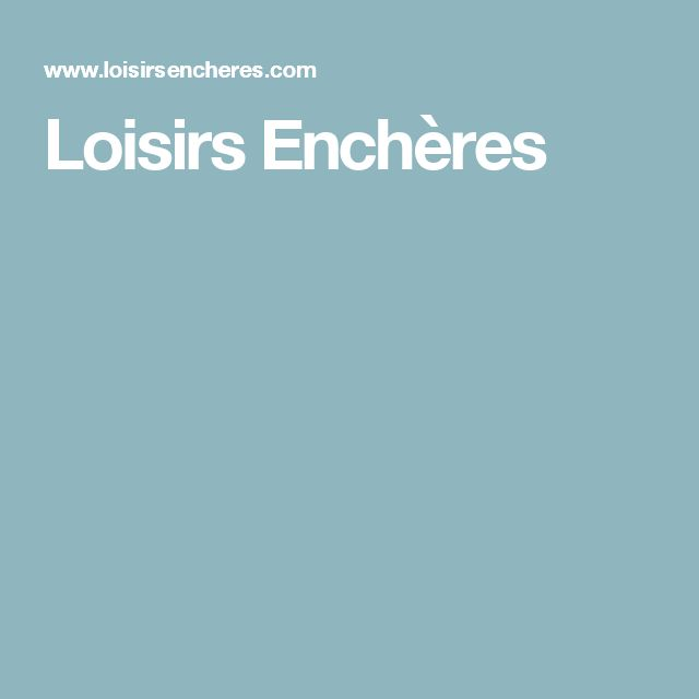 Loisirs Enchères