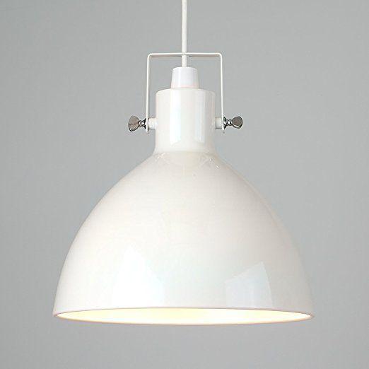 MiniSun – Cremefarbiger und kuppelförmiger Lampenschirm im Retrostil aus Metall – für Hänge- und Pendelleuchte: Amazon.de: Beleuchtung