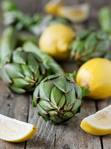 Artichokes - medium size has 30% of the RDA of fiber for one day.