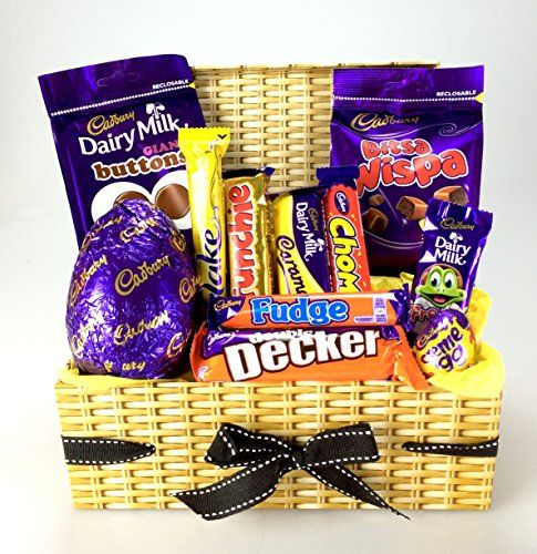 From 18.99:Wow - Our Best CADBURY Easter HAMPER Gift Perfect for any age Easter HAMPER Wicker Effect or Shabby Chic design Large Variety including Eggs Free Shipping. Sharing Gift