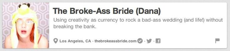 The Broke-Ass Bride | The 25 Best Pinterest Accounts To Follow When Planning Your Wedding