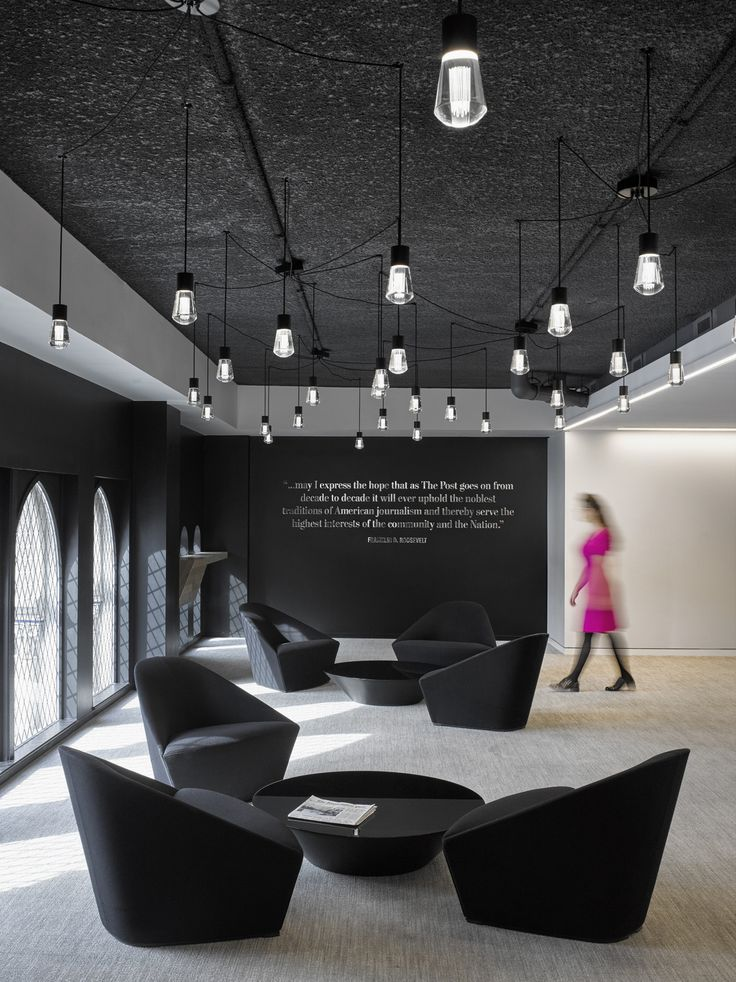 Black & white office design - The Washington Post Headquarters – Washington D.C.