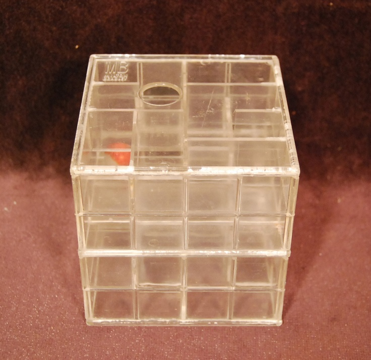 Old Vtg Milton Bradley Toy Try It Marble Maze Game 1960s