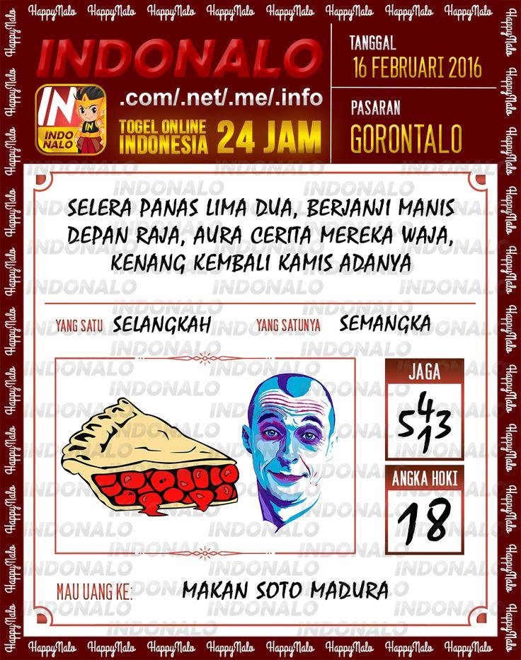 Prediksi Jitu Togel Online Indonalo Gorontalo 16 Februari 2016