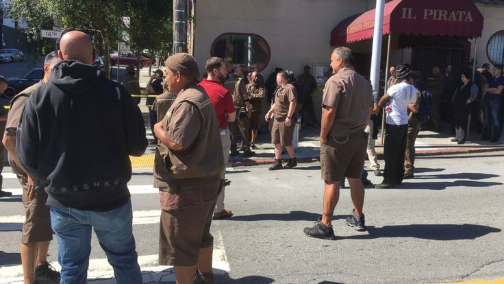 """The Latest on a shooting in San Francisco (all times local):  10:45 a.m.  A witness says he heard at least five gunshots and saw UPS drivers running down the street screaming """"shooter, shooter"""" after gunfire at a sprawling San Francisco package delivery warehouse.  Auto shop owner... - #Drivers, #Heard, #Latest, #Neighbor, #Runni, #Shots, #TopStories, #Ups"""