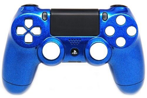 "This is our ""Candy Blue/White"" PlayStation 4 Modded Controller. It is a perfect gift for a special gamer in your life. Order yours today at: http://moddedzone.com/ You can also visit our eBay store at: http://stores.ebay.com/moddedzone/"