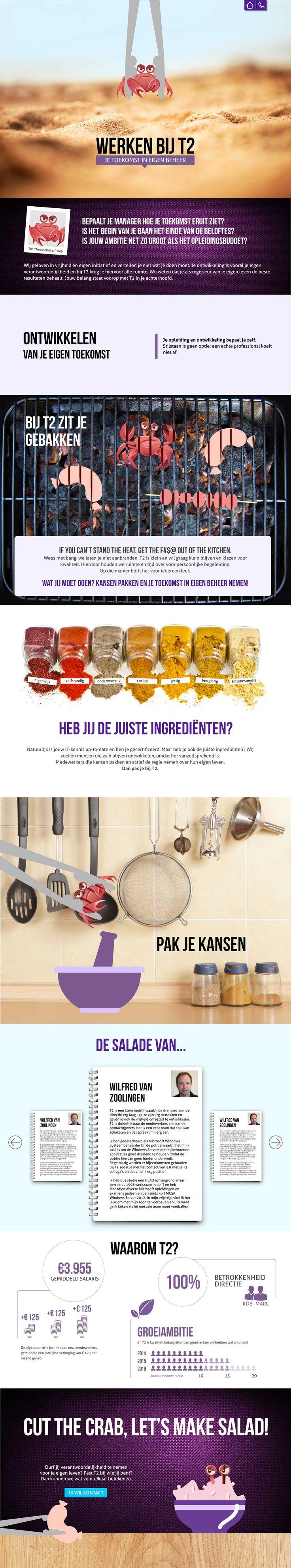 Parallax scrolling website   www.t2.nl