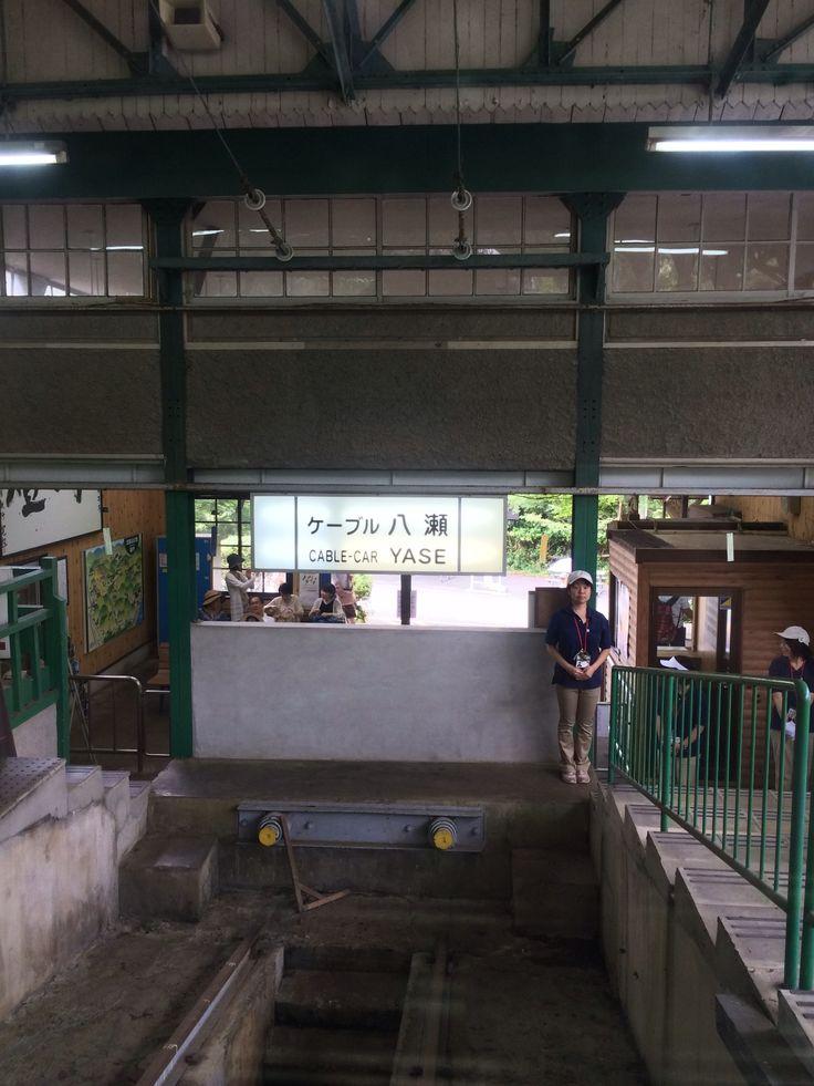 比叡山延暦寺までをつなぐケーブルカー。実際はこの後にロープウェイに乗ります。