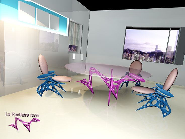 collection pink panther, furniture office