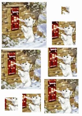 westie postman on Craftsuprint designed by Carol Brown - CUTE CHRISTMAS WESTIE POSTING HIS GIFT LIST TO SANTA.TAKE A MOMENT TO LOOK AT ALL MY NEW DESIGNS - Now available for download!