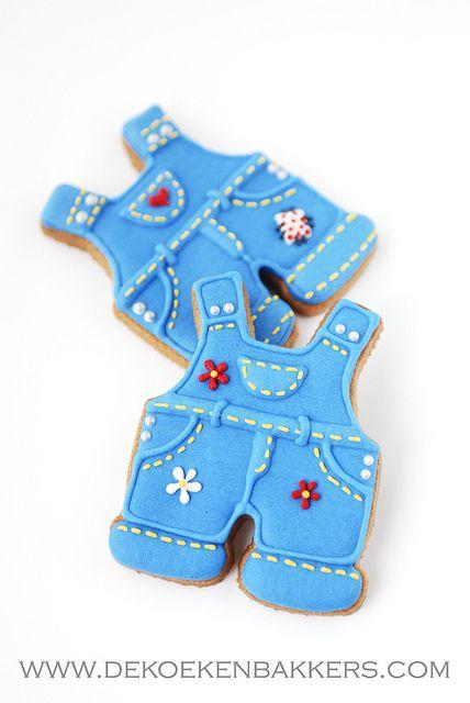 overalls: Cookies Ideas, Sugar Cookies, Cookies Decor, Cute Overalls, Healthy Breakfast, Adorable Cookies, Decor Cookies, Baby Cookies, Decorated Cookie