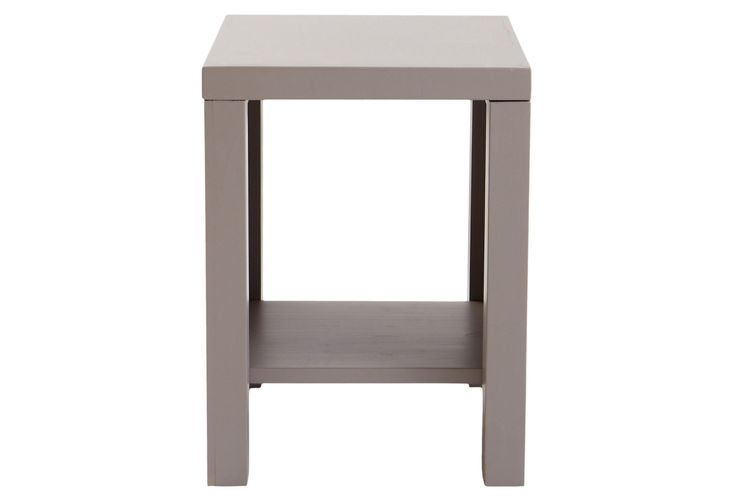 One Kings Lane - Gray Area - Leo Side Table, Light Gray