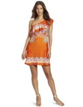 Wrapper One-Shoulder Border Placement-Print  Maternity Dress