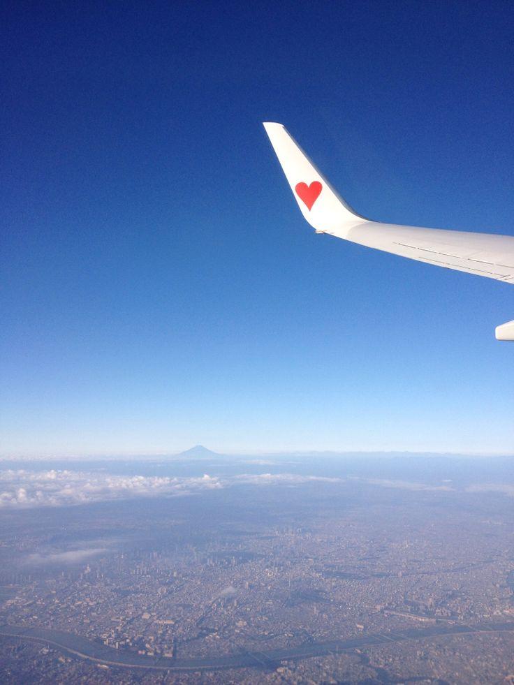 遠くに富士山!