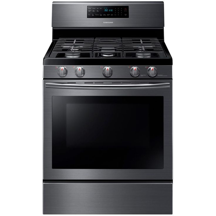 Samsung 30 in. 5.8 cu. ft. Gas Range with Self-Cleaning and Fan Convection Oven in Black Stainless-NX58J5600SG - The Home Depot