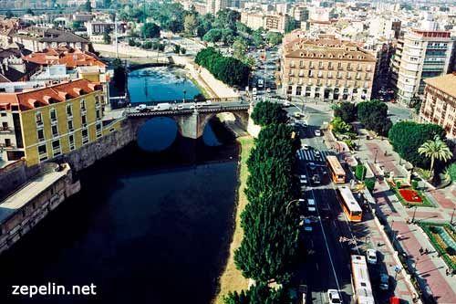 Fotografia aerea en Murcia, junto al rio Segura