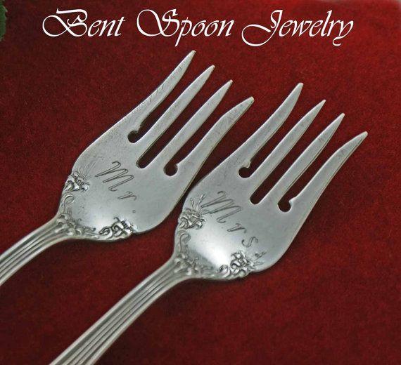 Mr  and Mrs Vintage Engraved Wedding Cake by Bentspoonjewelry, $29.00Wedding Cake