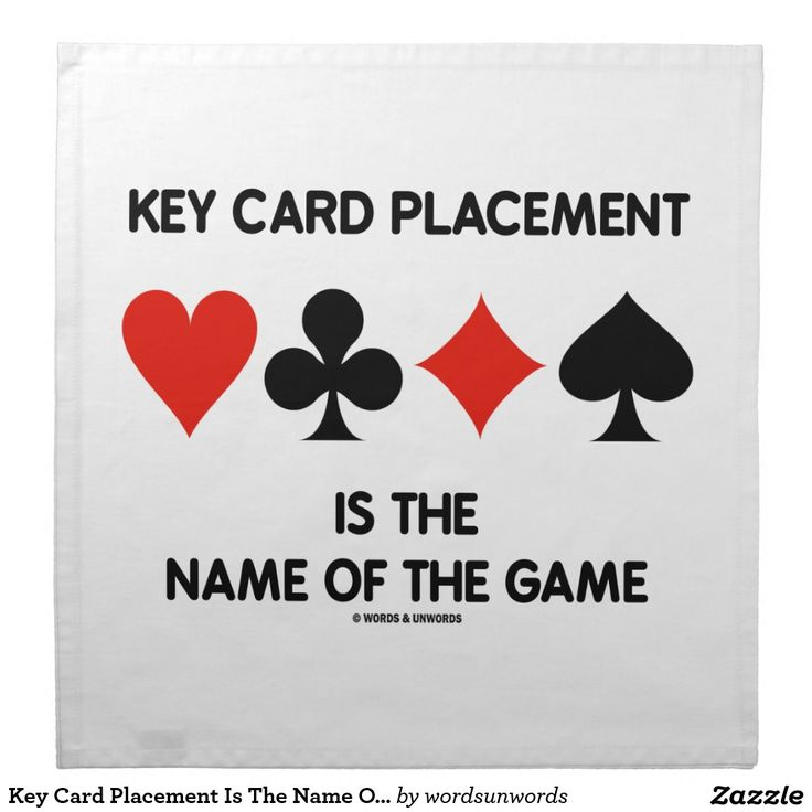 Key Card Placement Is The Name Of The Game Bridge Cloth ...