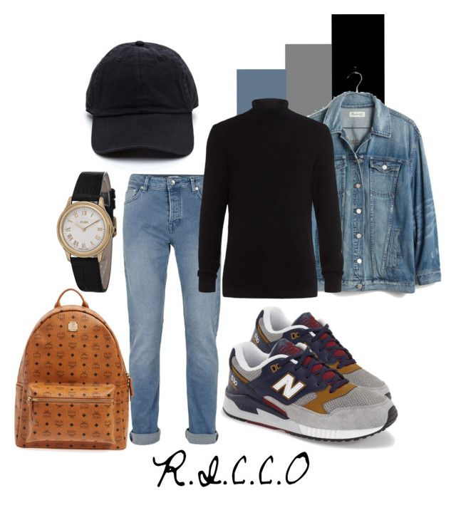 R.I.C.C.O by ninjasofia on Polyvore featuring Madewell, MCM, Fendi, Topman and New Balance