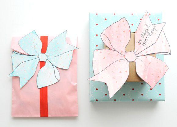 Imprimibles de lazos ilustración para regalos