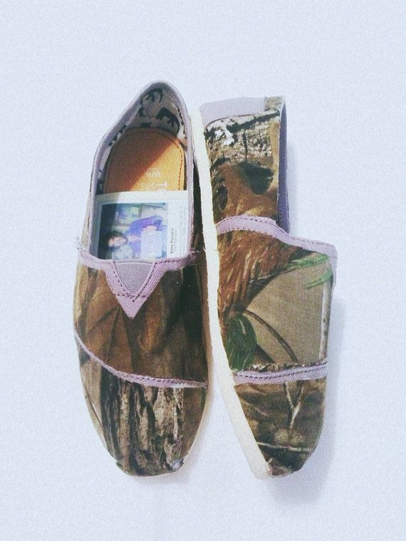 Women's camouflage Toms by ClarkCouturecom on Etsy