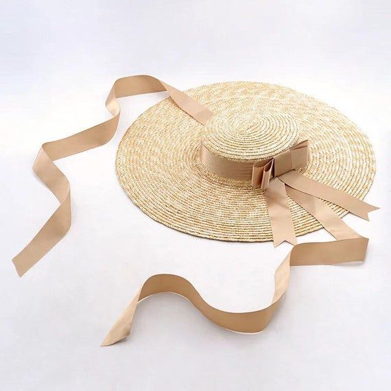 The European And American Designer Duds Large Eaves Flat Straw Etsy Straw Hats Outfit Outfits With Hats Hats