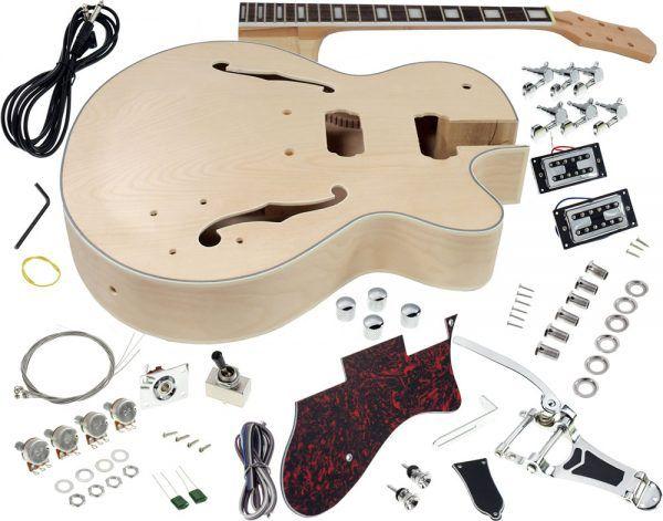 Solo GF Style DIY Guitar Kit, Maple Body, Vibrato Trem