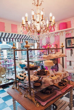 The Patisserie in the Post Office Centre, Illovo looks a bit like Barbie's wardrobe but has amazingly good food.