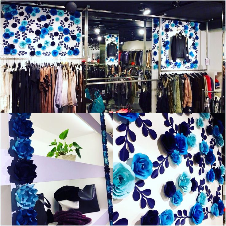 Декорирование бутика Collezioni, от студии Decor Le Fleurs..  #decor#handmade#flowers#