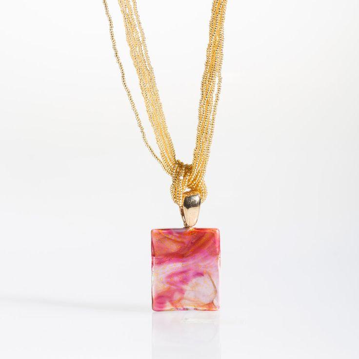Fortuna Necklace - Venetian Murano Glass Jewellery for Australia - www.italianheart.com.au