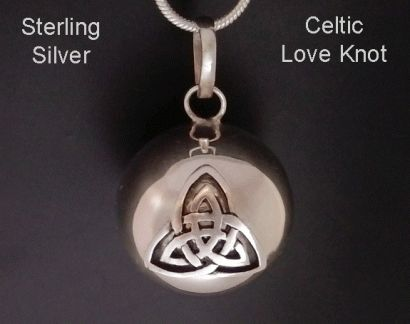 Chiming Tree of Life Necklace, Celtic Love Knot on a Sterling Silver Chime  - found at www.treeoflifejewellery.com and at https://www.etsy.com/shop/MyTreeOfLifeJewelry #treeoflife #chimingtreeoflifenecklace #treeoflifenecklace #treeoflifejewelry #treeoflifejewellery