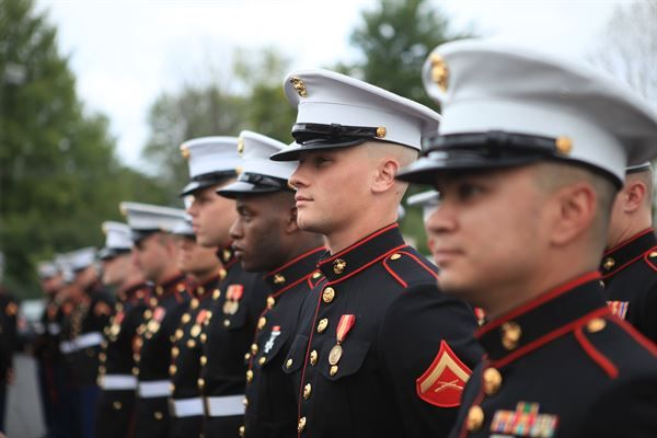 Semper Fidelis was adopted about 1883 as the motto of the Corps. Before then, there were three others which were only traditional.