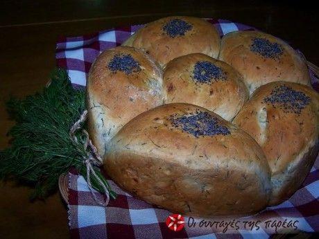 Ψωμάκια με άνηθο-κρεμμύδι-τυρί