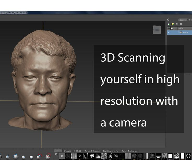 In this instructable, I'll share with you how to create a 3d model of yourself with a camera. Then clean up, fix the mesh make them printable models.Things you'll need:A camera (or a phone with camera function)Autodesk RemakeAutodesk MudboxGeomagic studio (optional)A 3d printer (if you want to print them)