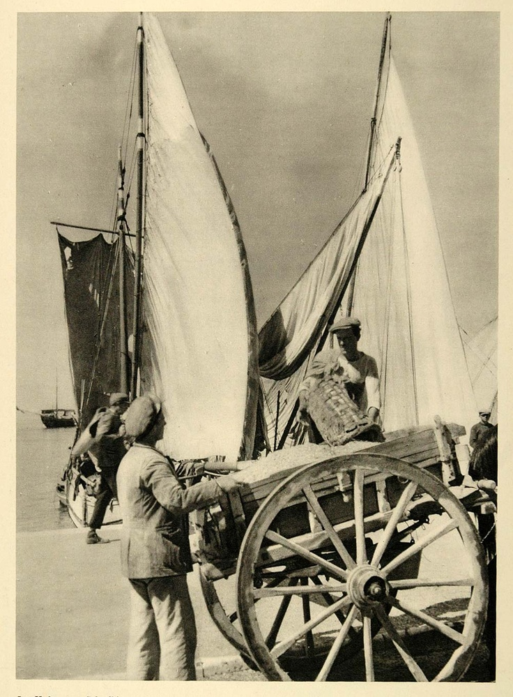 Harbor 1937, Thessaloniki Saloniki Salonica, Greece - Photogravure