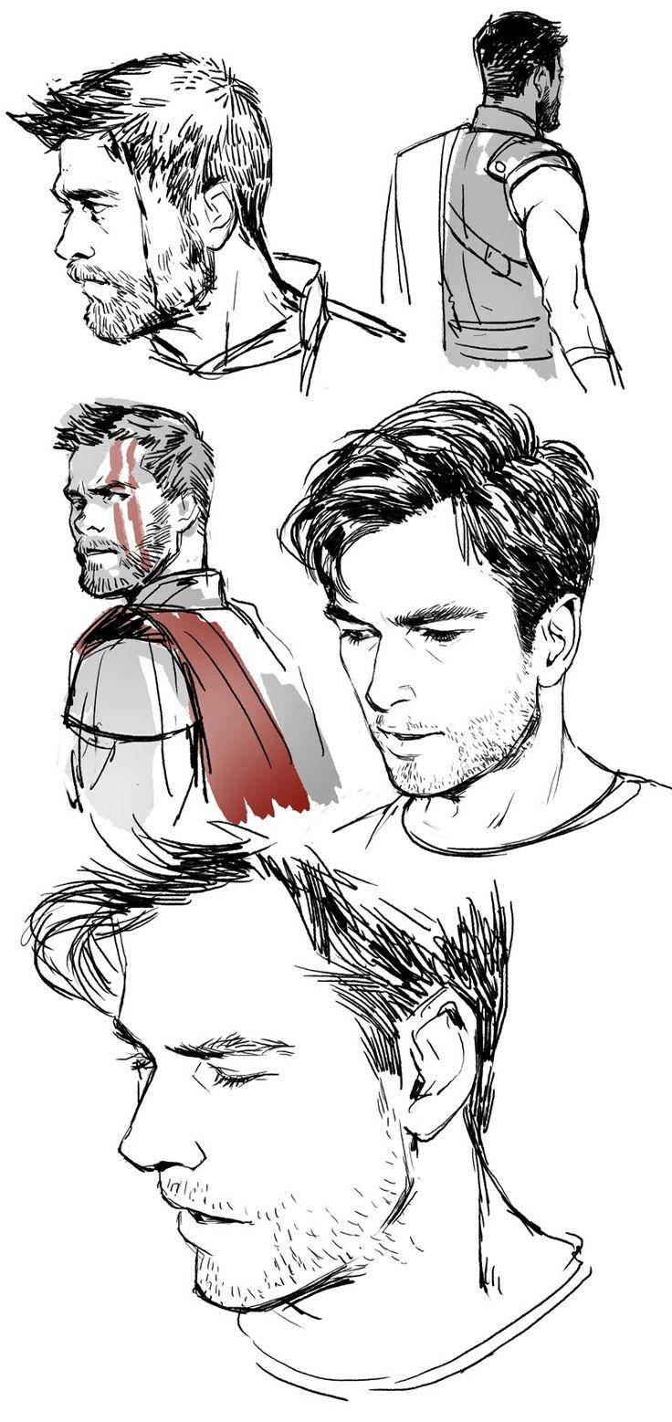 Thor / Chris Hemsworth by Coralliu Marvel fan art, Thor