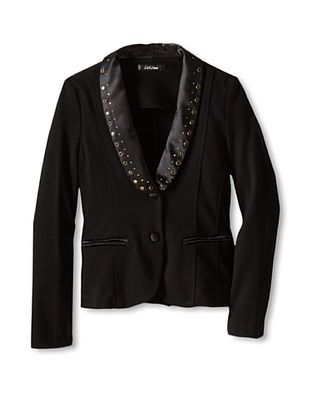 55% OFF Monnalisa Girl's Blazer with Studs (Black)